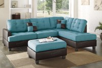 Turquoise Leather Sectional Sofa Magnificent Turquoise ...
