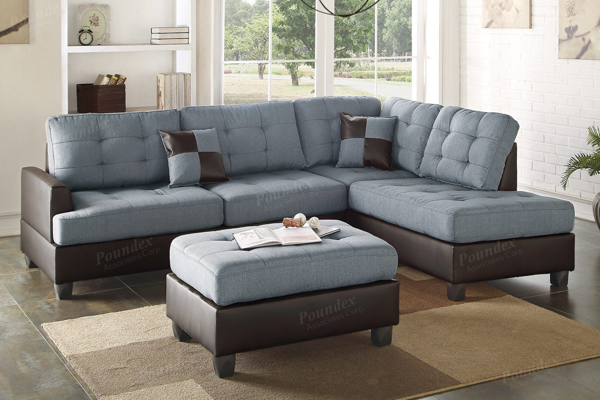 sofa and ottoman serta adelaide microfiber convertible grey leather sectional steal a