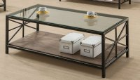 Black Wood Coffee Table - Steal-A-Sofa Furniture Outlet ...