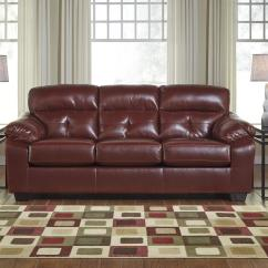 Ashley Red Leather Sofa Triton Beige Bed Bastrop Steal A Furniture Outlet