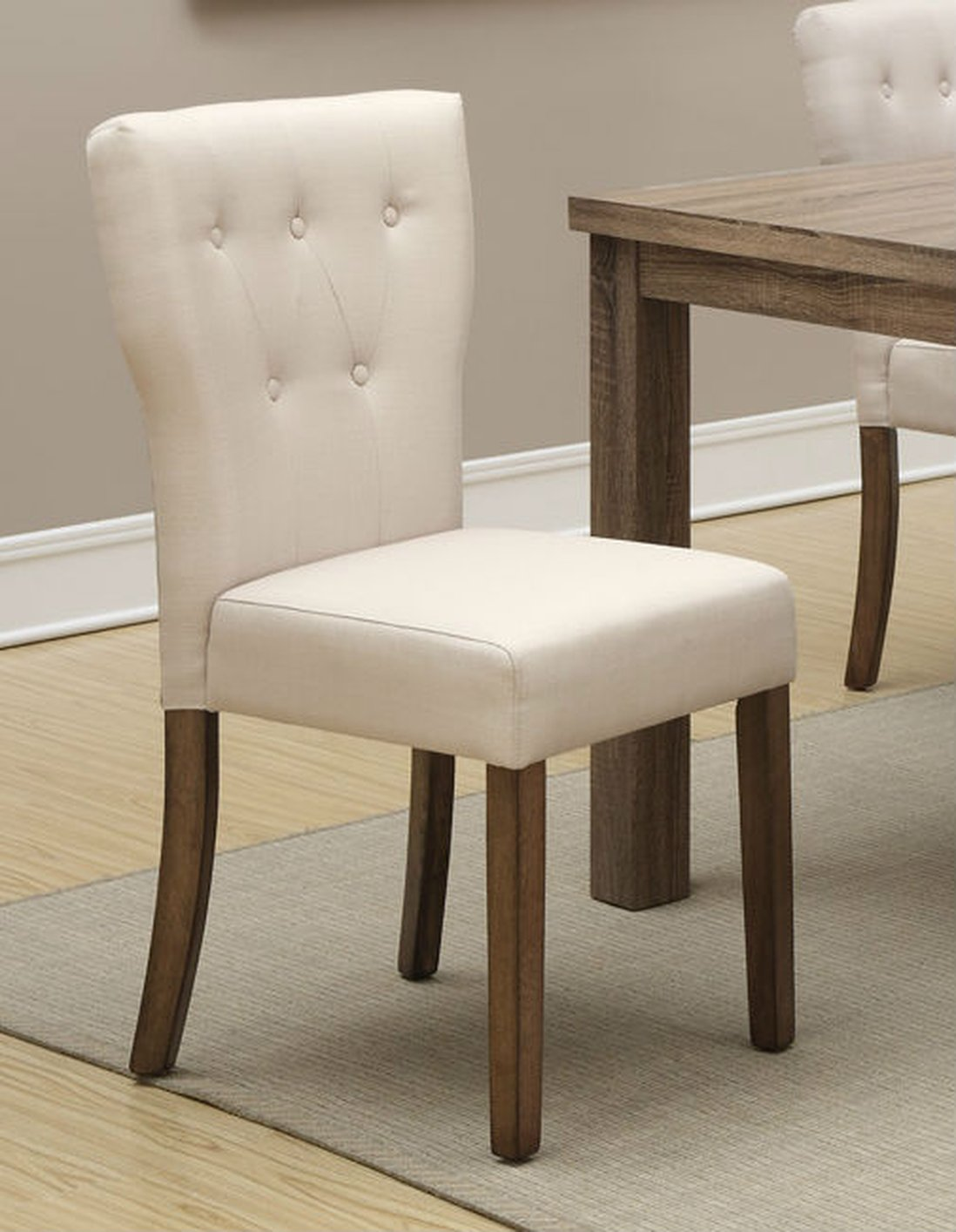 beige dining chairs queen anne recliner fabric chair steal a sofa furniture outlet
