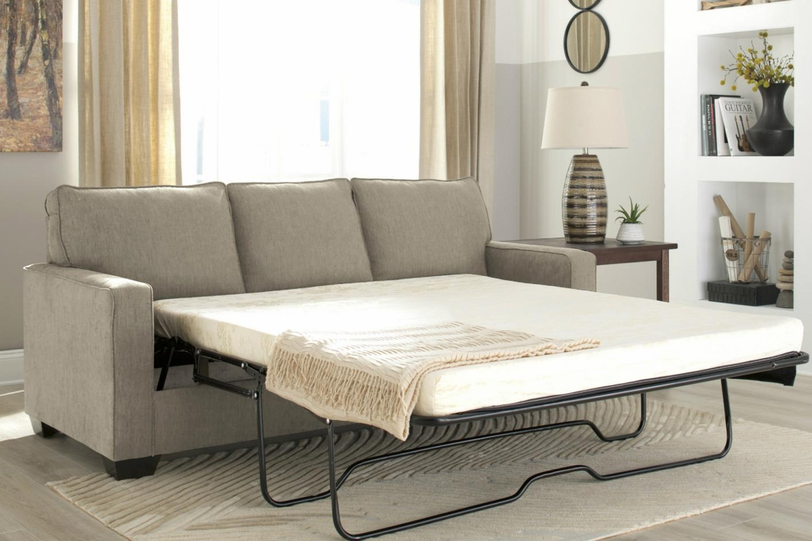 Beige Fabric Sofa Bed  StealASofa Furniture Outlet Los Angeles CA