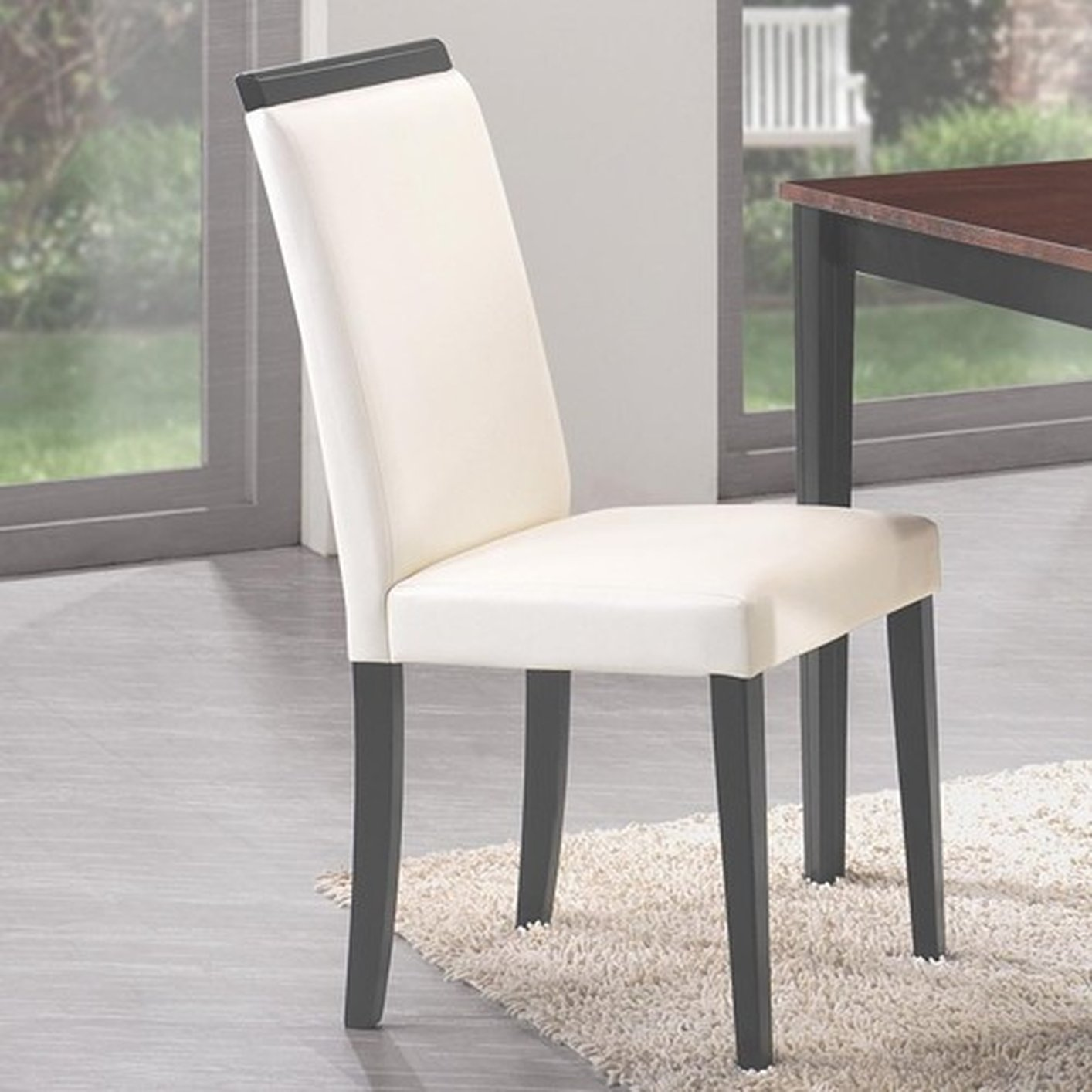 Beige Leather Dining Chairs Beige Wood Dining Chair
