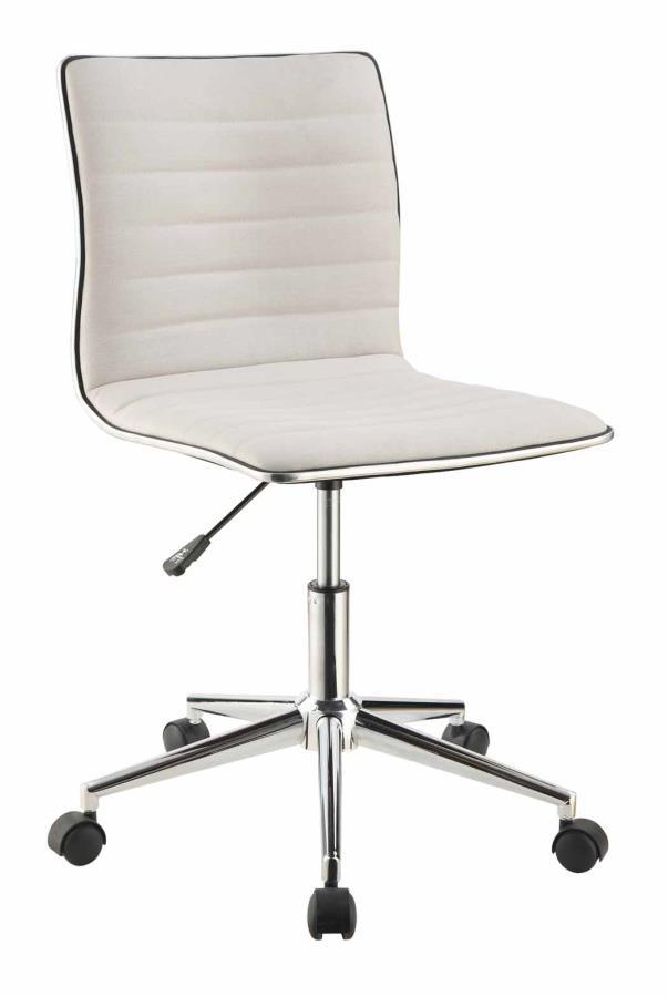 Beige Metal Office Chair  StealASofa Furniture Outlet