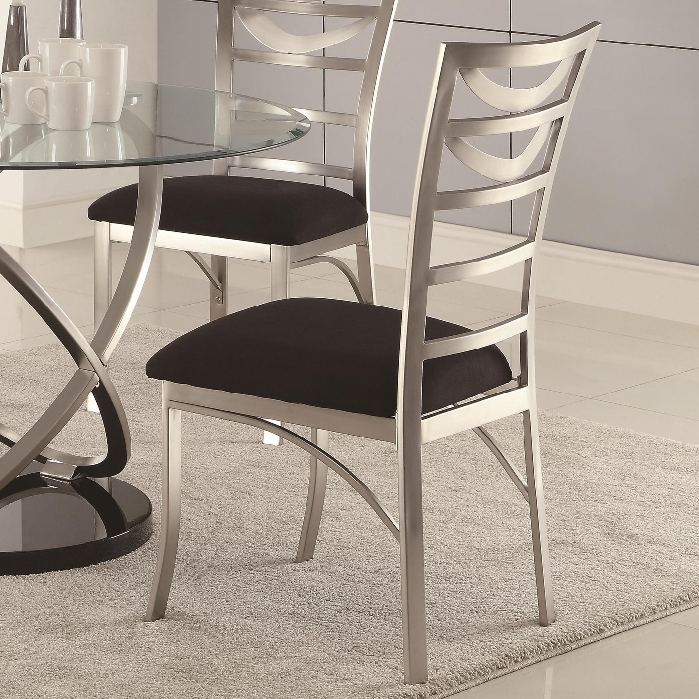 silver metal dining chairs office chair for large person steal a sofa furniture outlet