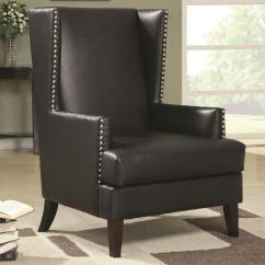 Black Leather Accent Chairs Lowes Chair Rail Steal A Sofa Furniture Outlet