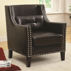 Black Leather Accent Chairs Wheel Chair Gumtree Steal A Sofa Furniture Outlet