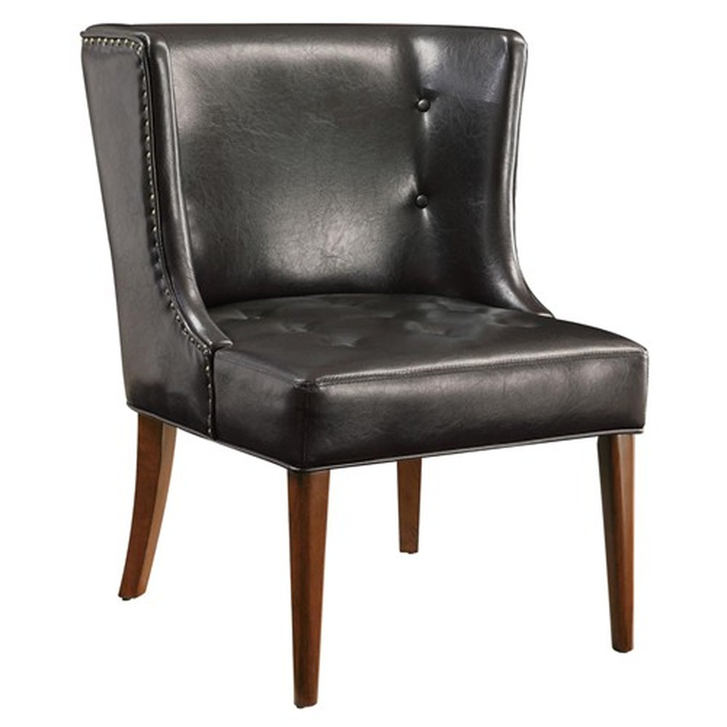 black leather accent chairs design chair and table steal a sofa furniture outlet
