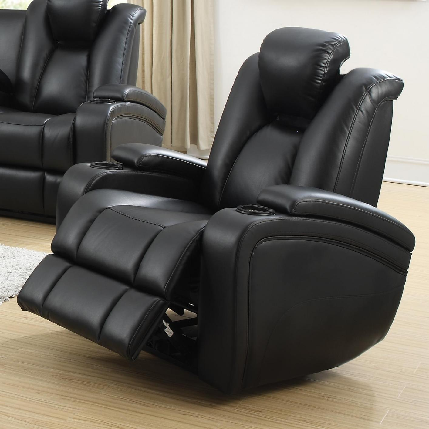 Reclining Leather Chair Black Leather Power Reclining Chair Steal A Sofa