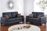 Black Leather Sofa and Loveseat Set - Steal-A-Sofa ...