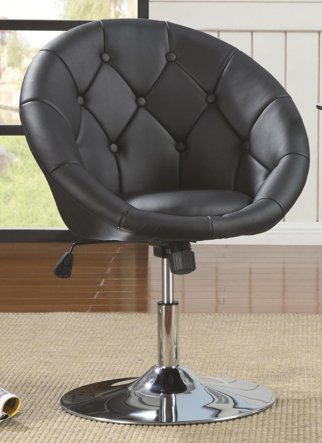 Black Metal Swivel Chair  StealASofa Furniture Outlet