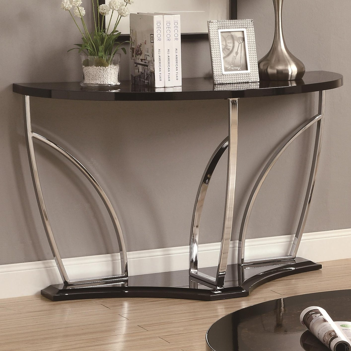 vogue chrome sofa table furniture sofas silver metal steal a outlet