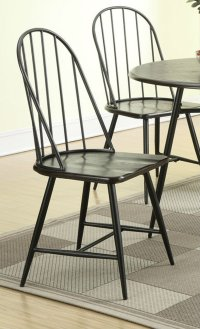 Black Metal Dining Chair - Steal-A-Sofa Furniture Outlet ...