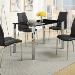 Black Dining Table And Chairs Yellow Bedroom Chair Metal Set Steal A Sofa