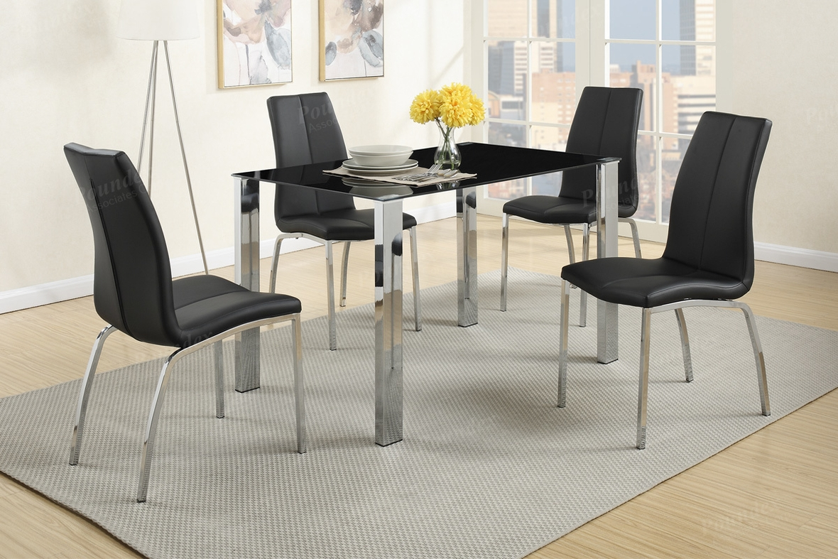 Black Metal Dining Chairs Black Metal Dining Table And Chair Set Steal A Sofa