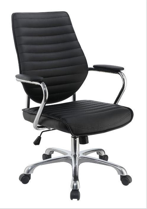 Black Metal Office Chair  StealASofa Furniture Outlet