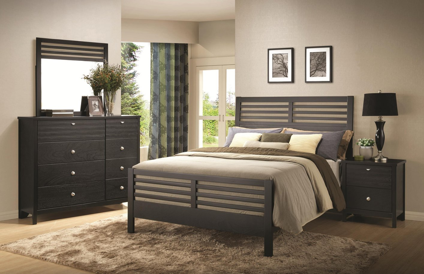 Black Wood California King Size Bed Steal A Sofa