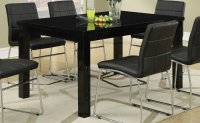 Black Wood Dining Table - Steal-A-Sofa Furniture Outlet ...