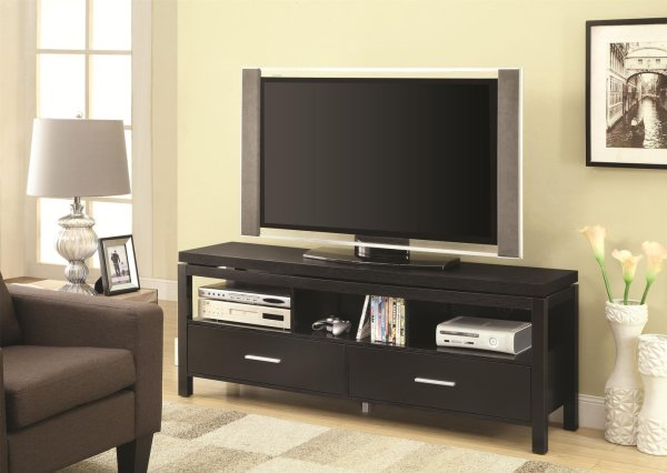 Black Wood Tv Stand - Steal-sofa Furniture Outlet Los Angeles Ca