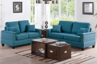 Blue Fabric Sofa and Loveseat Set - Steal-A-Sofa Furniture ...