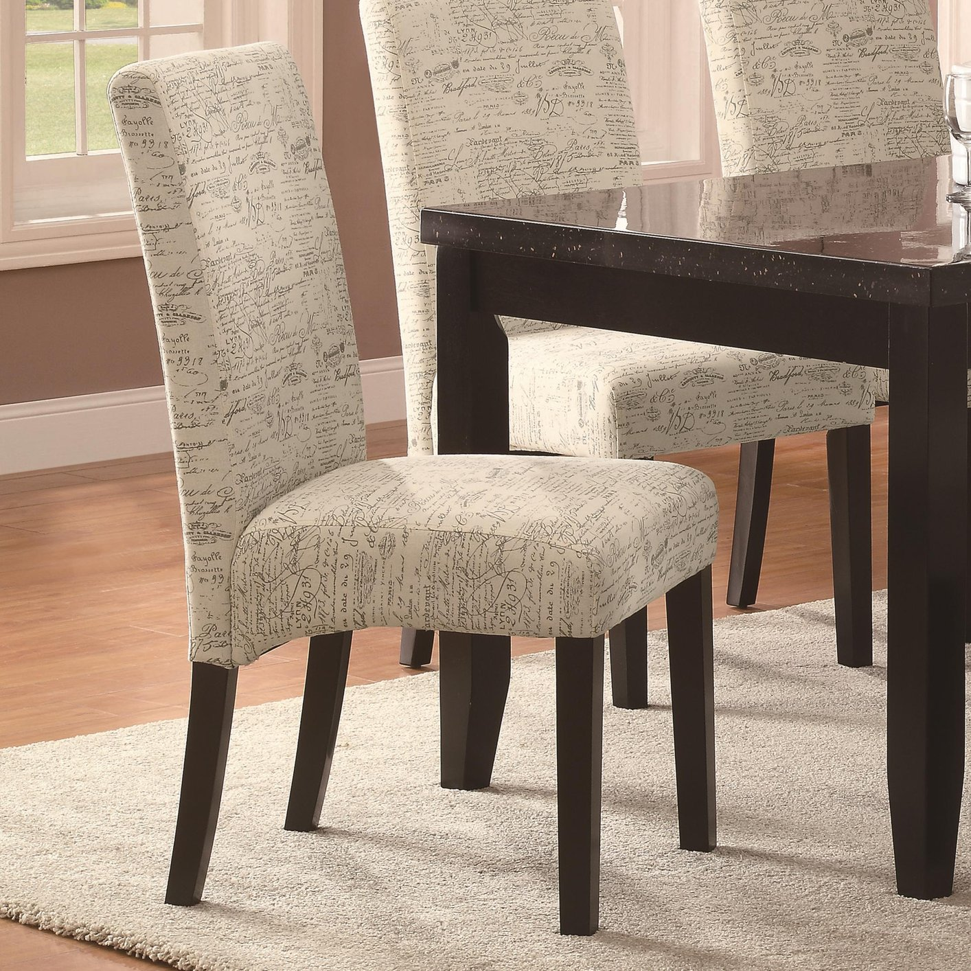 White Fabric Dining Chair  StealASofa Furniture Outlet