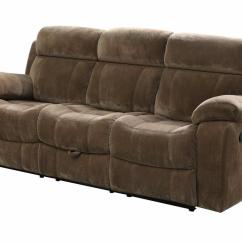 Fabric Sectional Sofa With Recliner Protector Cover For Storage Brown Reclining Steal A Furniture
