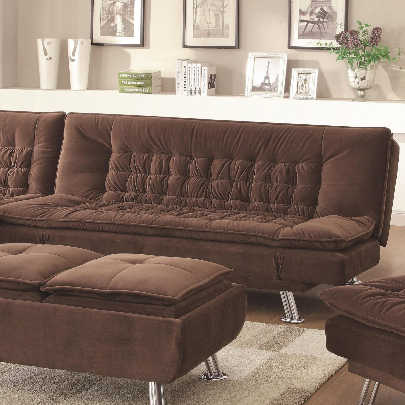 brown fabric sofa unusual sleeper sofas bed steal a furniture outlet los
