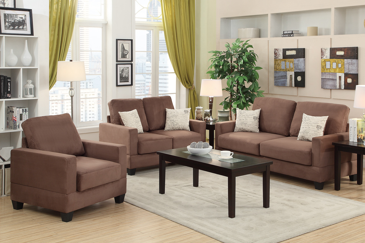 marlow reclining sofa loveseat and chair set petrie apartment dimensions brown wood steal a
