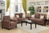 Brown Wood Sofa Loveseat and Chair Set - Steal-A-Sofa ...