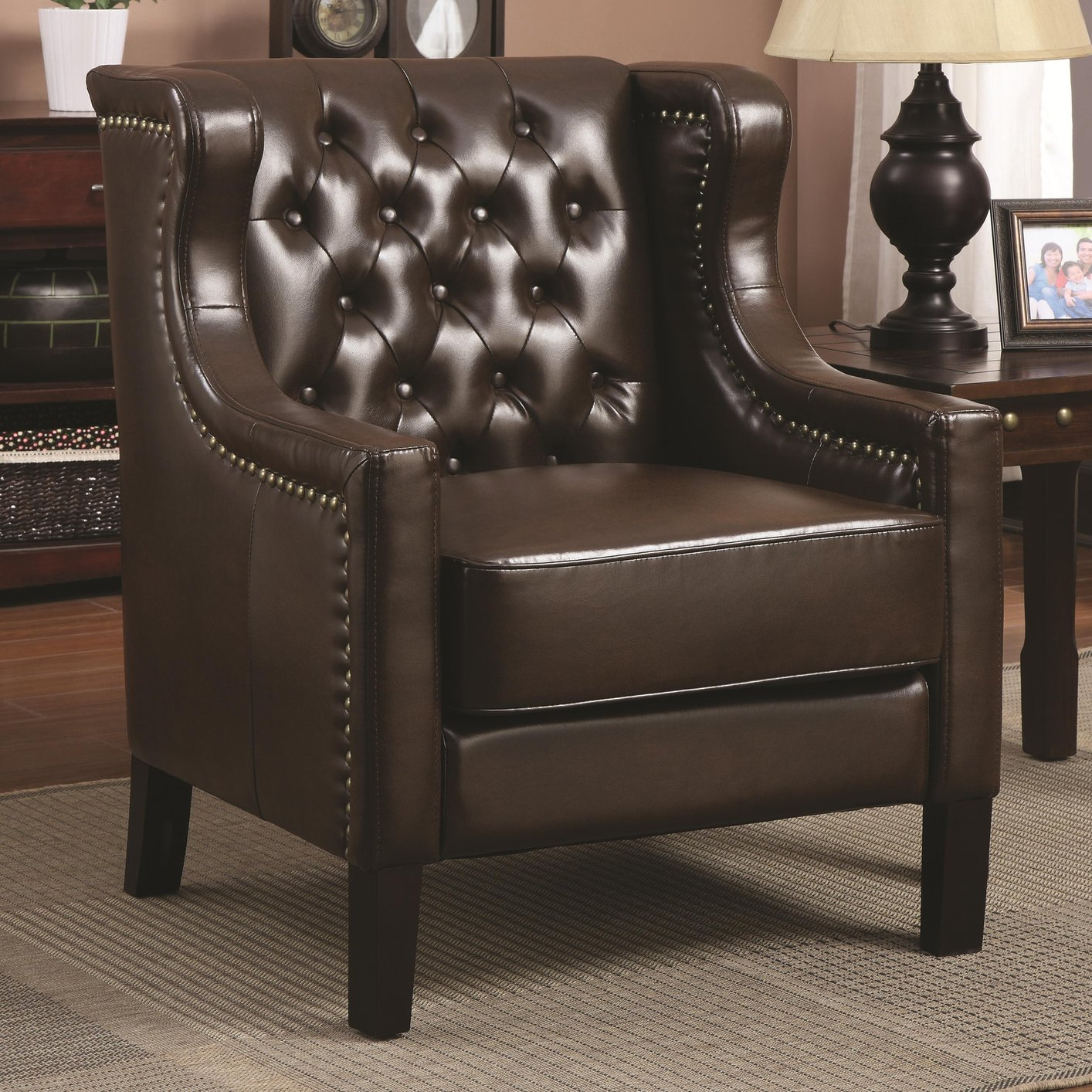brown leather sofa accent chair used bed for sale near me steal a furniture outlet