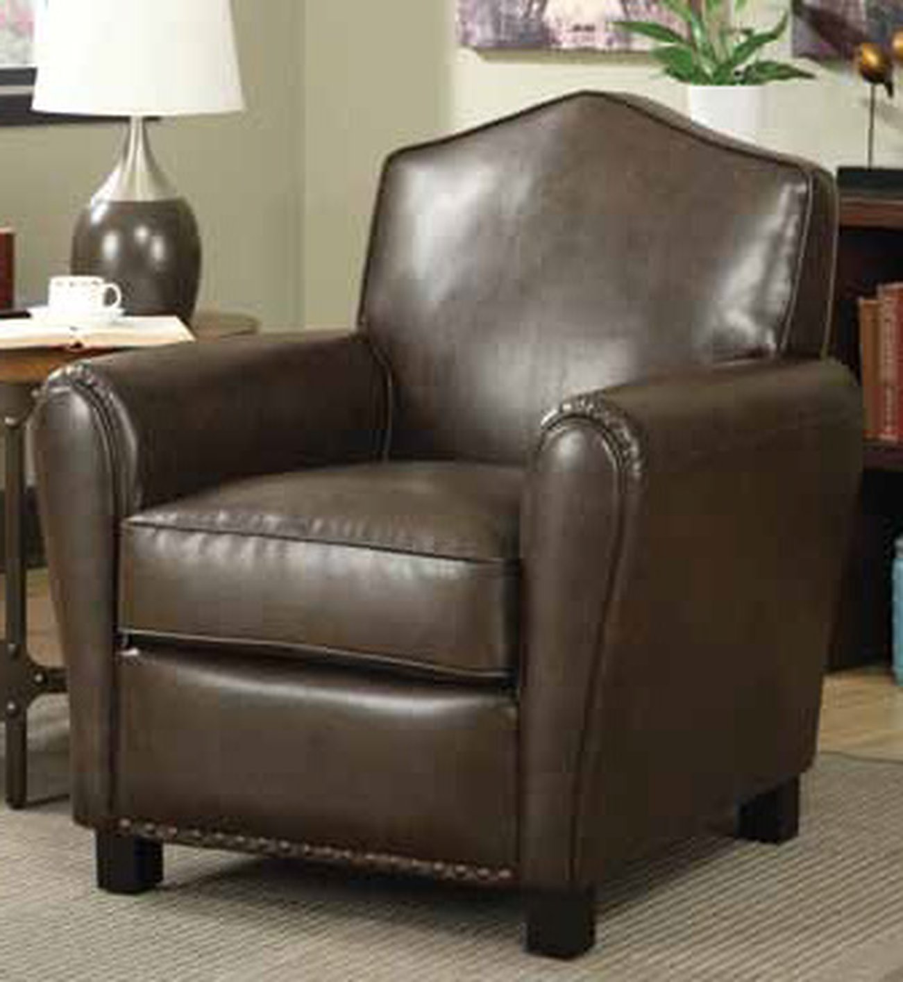 brown leather sofa accent chair sears sleeper steal a furniture outlet