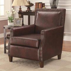 Brown Leather Sofa Accent Chair Cardboard Steal A Furniture Outlet