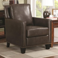 Brown Leather Sofa Accent Chair Oversized Baseball Glove Steal A Furniture Outlet