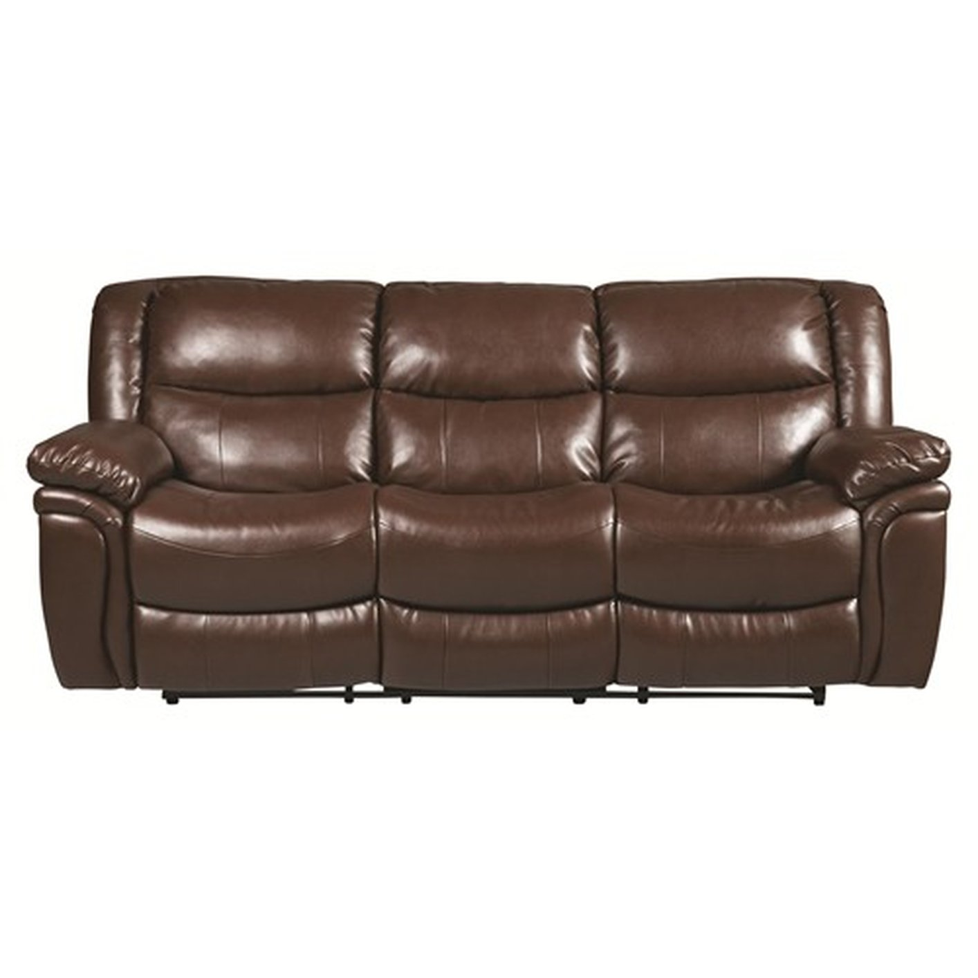 reclining sofa leather brown los angeles yelp steal a furniture