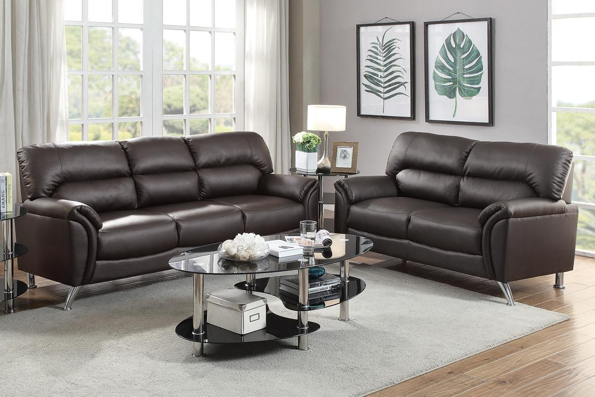 tan leather sofa and loveseat natuzzi sectional brown set steal a