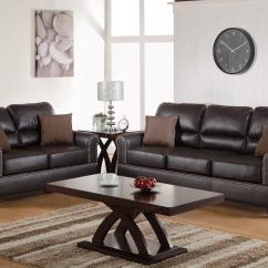 Tan Leather Sofa And Loveseat Sofas Okc Brown Set Steal A
