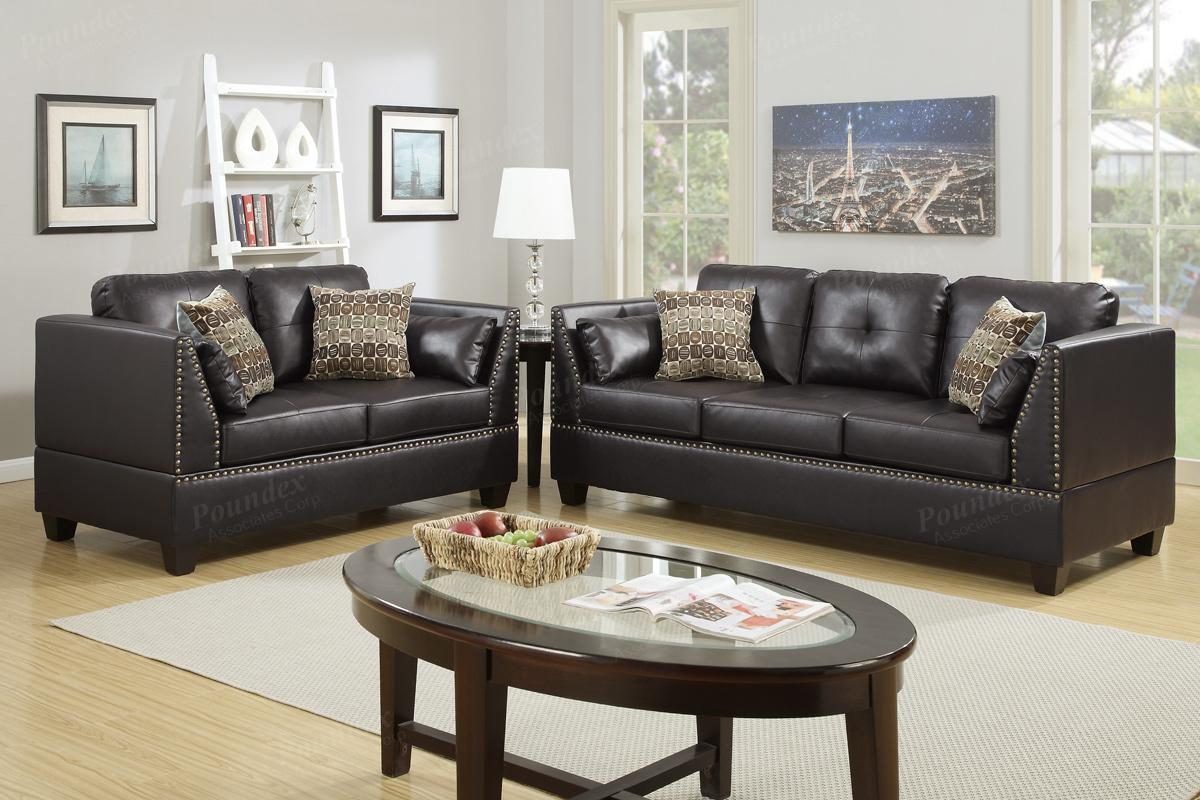 tan leather sofa and loveseat global furniture bonded brown set steal a