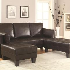 Bed And Sofa Set Room Board Sleeper Mattress Brown Leather Ottoman Steal A