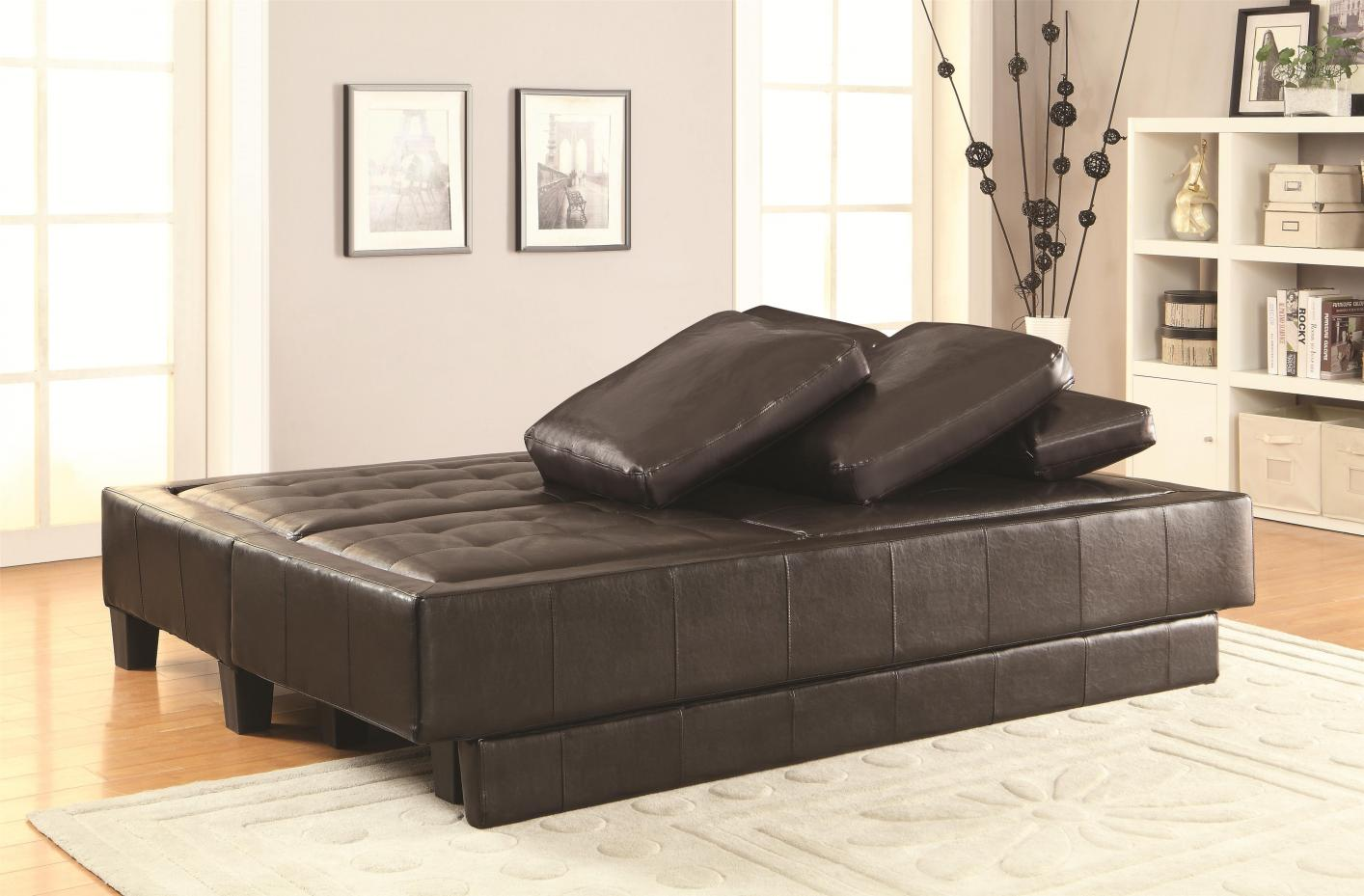 bed and sofa set frame making brown leather ottoman steal a
