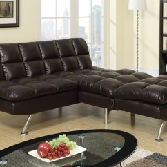 Twin Sofa Bed Leather Feet Glides Brown Size Steal A Furniture
