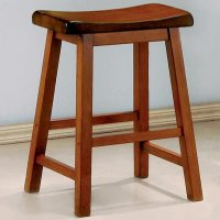 Brown Wood Bar Stool - Steal-A-Sofa Furniture Outlet Los ...
