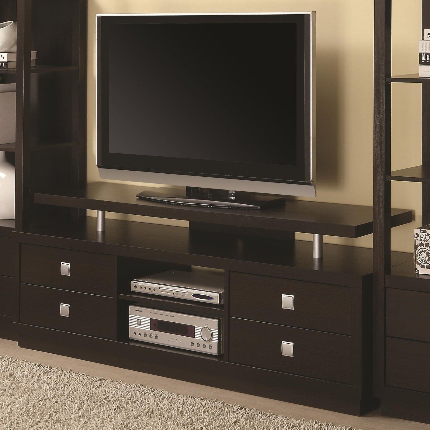 Brown Wood TV Stand  StealASofa Furniture Outlet Los