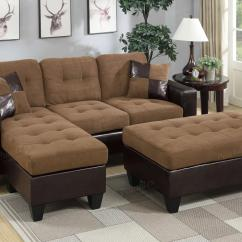 Large Sectional Sofa With Ottoman Fabric Sofas Designs Brown Leather And Steal A