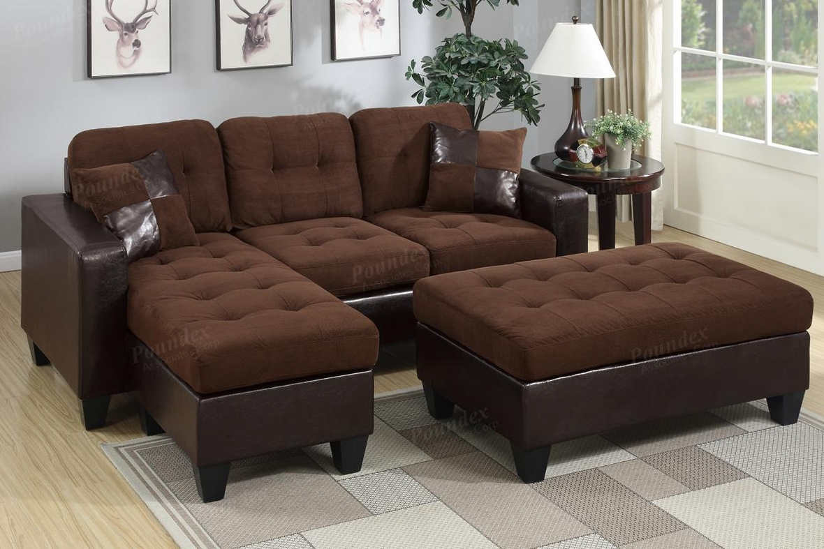 chocolate brown leather sectional sofa with 2 storage ottomans southern motion reclining and ottoman steal a