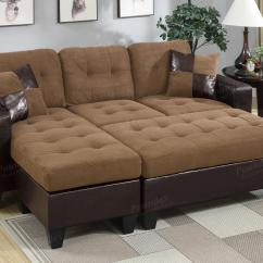 Chocolate Brown Leather Sectional Sofa With 2 Storage Ottomans Mario Bellini Large Ottoman In Upholstered Pearl Grey
