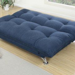 Blue Fabric Recliner Sofa Large Plush Sectional Sofas Bed Steal A Furniture Outlet Los