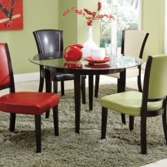 Glass And Wood Dining Table Chairs Computer Chair Walmart Charleston Espresso Steal A