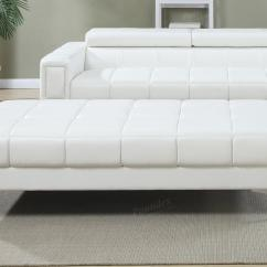 White Leather Sectional Sofa With Ottoman Cheers Clayton Motion Review Steal A Furniture Outlet Los