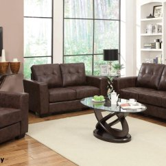 Leather Couch And Chair Set Folding Leg Protectors Enright Brown Sofa Loveseat Steal A