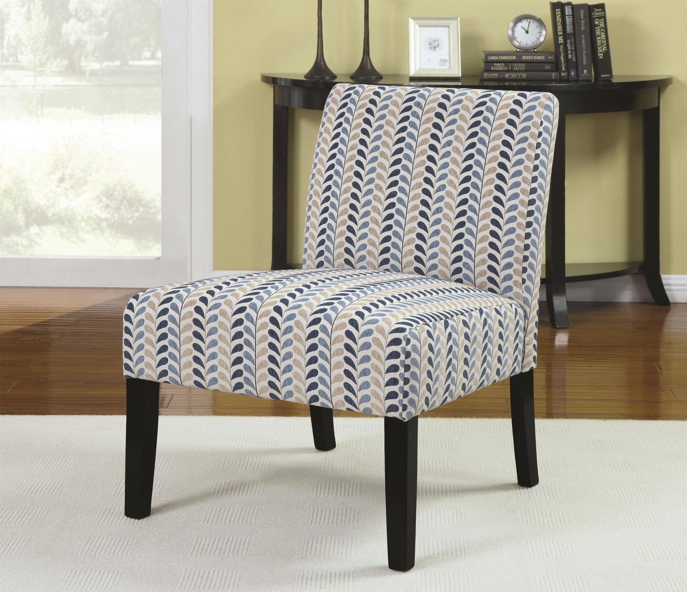 blue pattern accent chair unique office ideas fabric steal a sofa furniture outlet los angeles ca